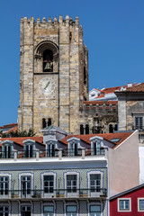 Crenelated tower of the Lisbon Cathedral is a relic from the Reconquista period, when the cathedral could be used as a base to attack the enemy during a siege.