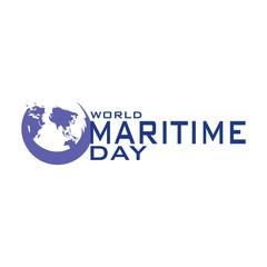 World Maritime Day vector template design