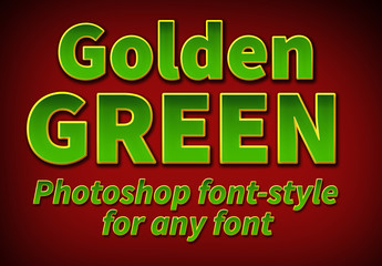 Golden Green Font Style