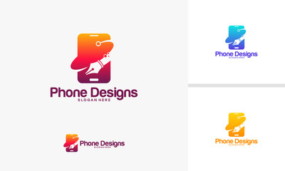 Mobile Art logo template, Phone Designs logo designs vector illustration
