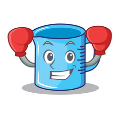 Boxing measuring cup character cartoon