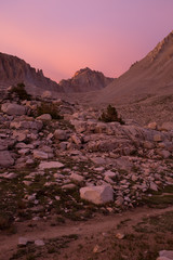 Sunset on Mt Whitney from Guitar Lake