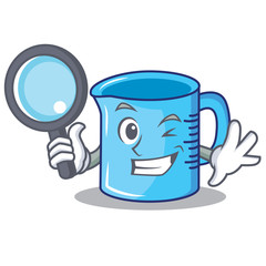 Detective measuring cup character cartoon