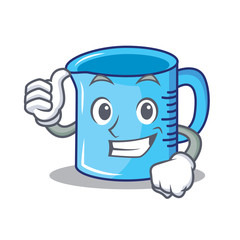 Thumbs up measuring cup character cartoon