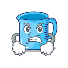 Angry measuring cup character cartoon