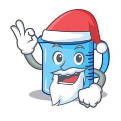 Santa measuring cup character cartoon