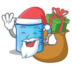 Santa with gift measuring cup character cartoon