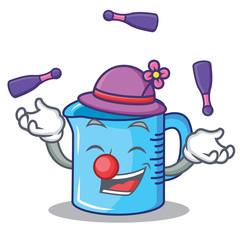 Juggling measuring cup character cartoon