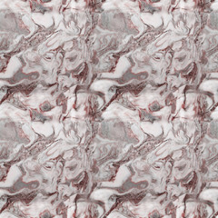 Grey and pink marbled seamless texture.