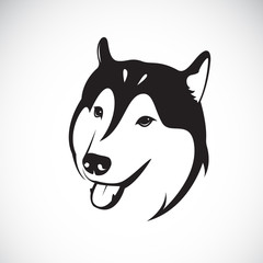 Vector of a dog siberian husky on white background. Pet. Animal.