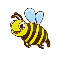 cartoon cute bee vector illustration