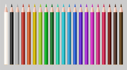 set of a real color wood pencil