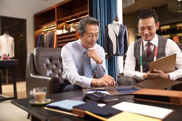 Fashion designers and customers