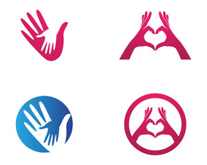 Hand help logo and symbols template icons app