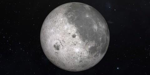 Moon. 3D illustration