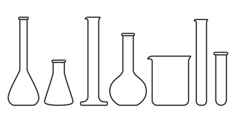 glassware instruments in linear style