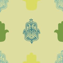 ethnic pattern with hamsa