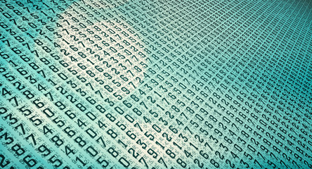 Abstract numbers texture, secured database against hackers