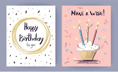 Happy Birthday Make a Wish Vector Illustration