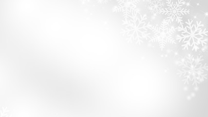 Abstract Snow Flake with Bokeh White and Gray Vector Backgrounds