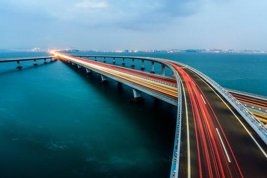 Jiaozhou Bay Bridge of Qingdao City,Shandong Province,China