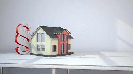 Hausgebäude mit einem Paragrafen