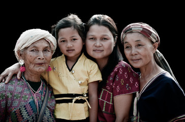 Four Generations of Po Karen Women