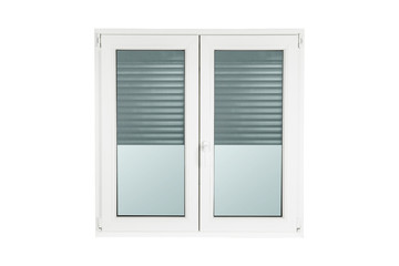 PVC window isolated on white