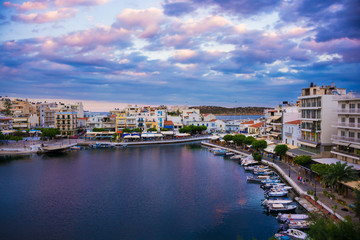 Foto op Canvas Las Vegas Agios Nikolaos on Crete, Greece
