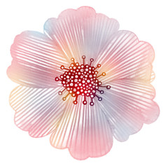 Pink flower in pastel colors.