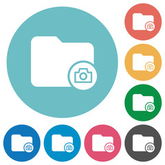 Directory snapshot flat round icons