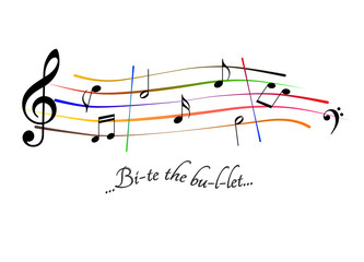 Spartito musicale Bite the bullet
