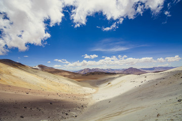 Panoramic view of Bolivia from the top of a Chilean volcano.