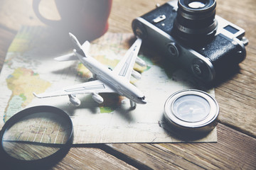 Travel objects on map
