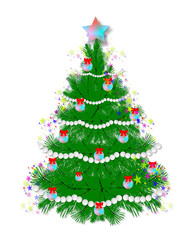 Abstract image,Christmas tree with decorations,New Year,tree,