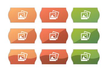 Sticker Set - Etikett Preisschild - Fotos - Galerie