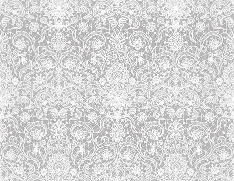 Seamless white lace