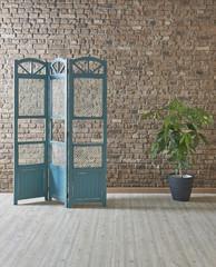 decorative home design modern paravane dark blue style