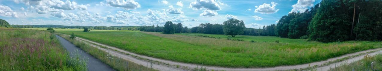 Panorama Weg ins Grüne