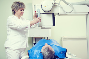 radiology and healthcare. adult man examination