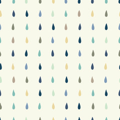Vector rain drops background. Texture for wallpaper, fills, web page background.