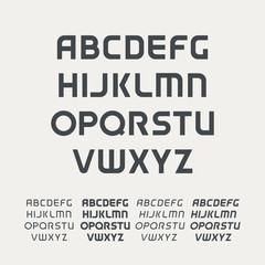 Sport uppercase alphabet. Futuristic technology font. Modern monogram template. Minimalistic vector design typeface. Logo template set. The first letter of the title.