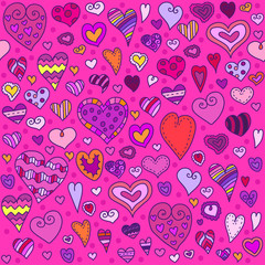Love hearts seamless pattern. Can be used for textile, website background, book cover, packaging.