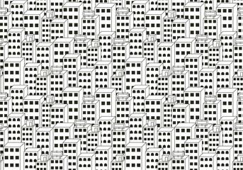 Cityscape Black and White Background