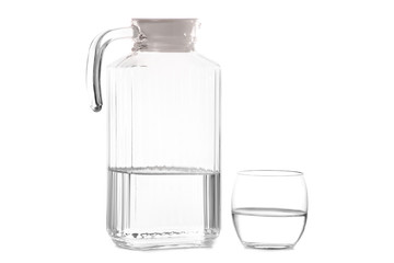 Glass of water carafe