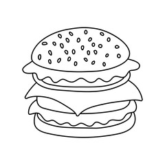 Hamburger vector icon. Beautiful vector design.