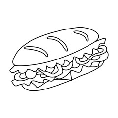 Sandwich vector icon. Beautiful vector design.