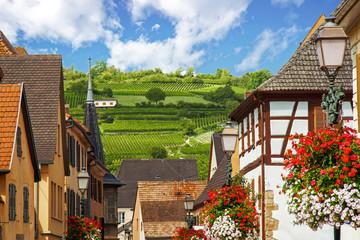 Rouffach. Vue sur les vignobles depuis le village, Alsace