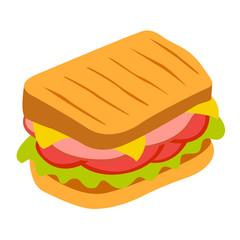 Sandwich vector icon. Beautiful vector design.