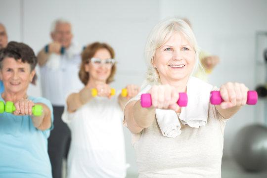 Group exercise for seniors